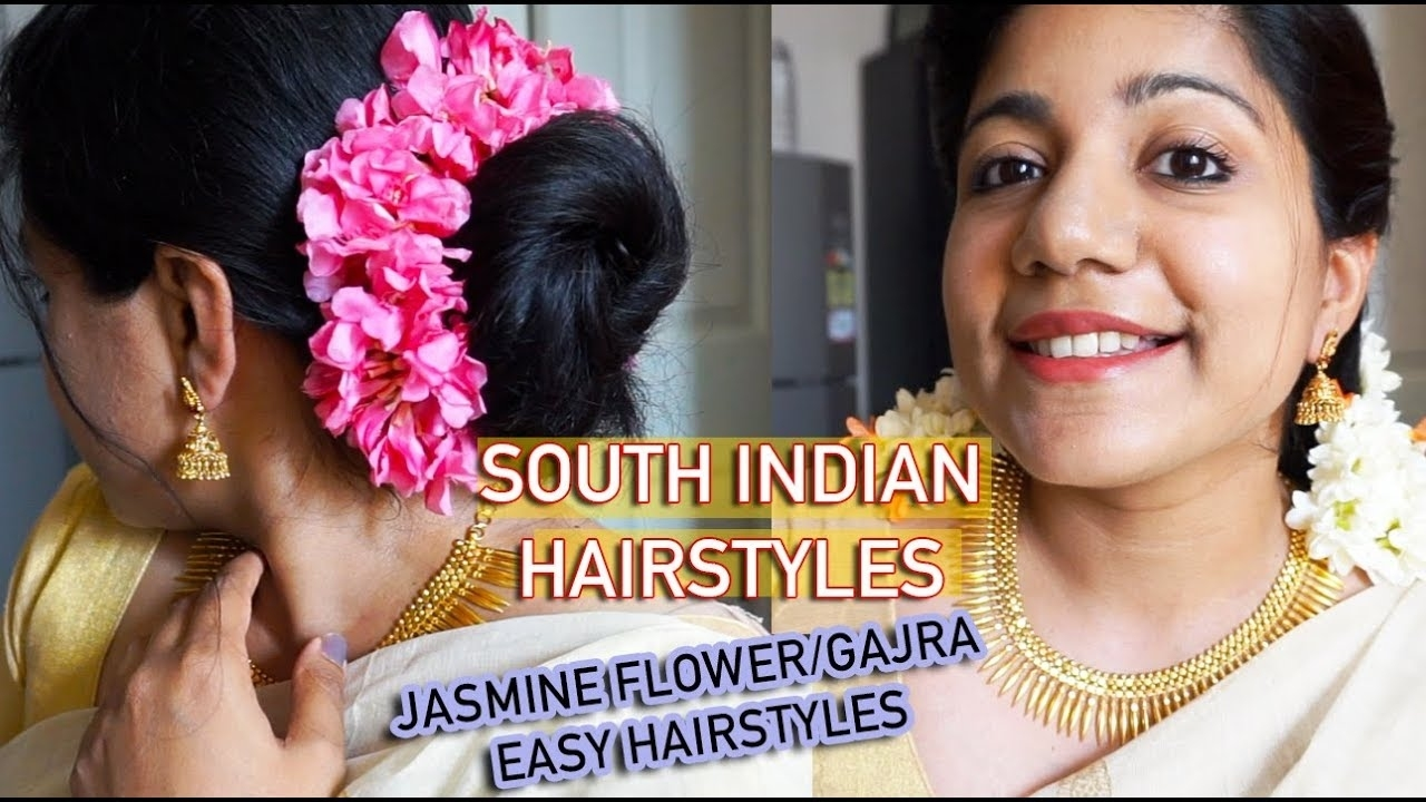 5 Easy South Indian Hairstyles For Saree | Hairstyle Using Jasmine Flower |  Easy Gajra Hairstyles with regard to Simple South Indian Hairstyles For Saree