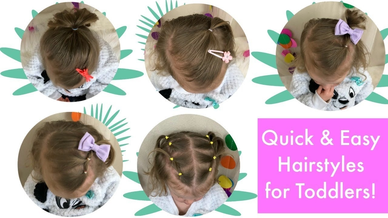 5 Quick And Easy Toddler Hairstyles (Thin Hair)! intended for Hairstyles For Fine Hair Baby
