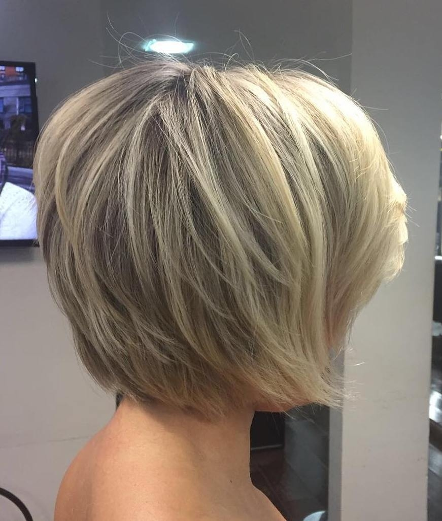 70 Cute And Easy-To-Style Short Layered Hairstyles inside Back View Of Short Flat Layered Hairstyles