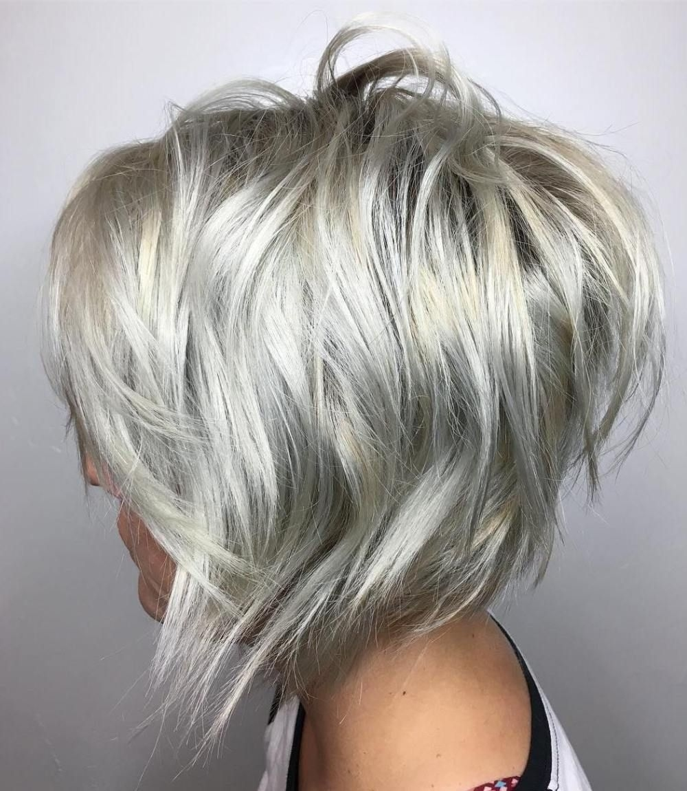 70 Overwhelming Ideas For Short Choppy Haircuts In 2019 within Hair Styles For Grey Thin Hair