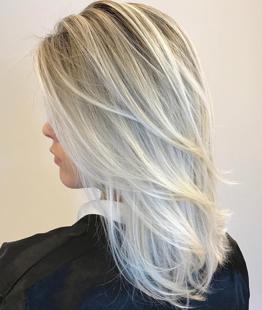 hairstyles for long gray thin hair  wavy haircut