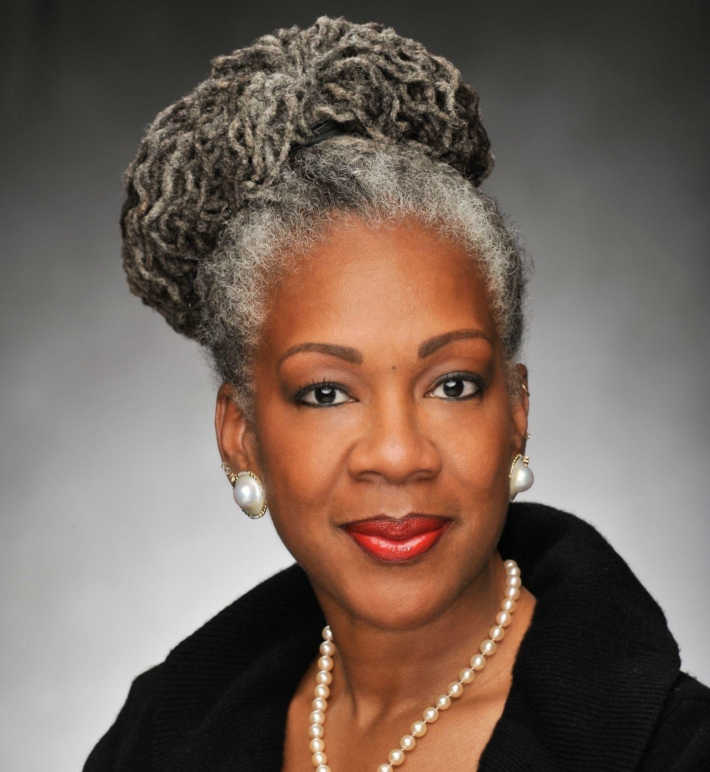 Grey African American Natural Hair - Wavy Haircut