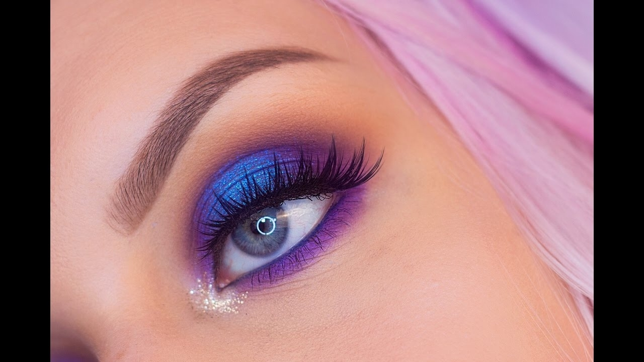 Blue And Purple Halo Eyeshadow Makeup Tutorial with regard to How To Use Purple Eyeshadow For Blue Eyes