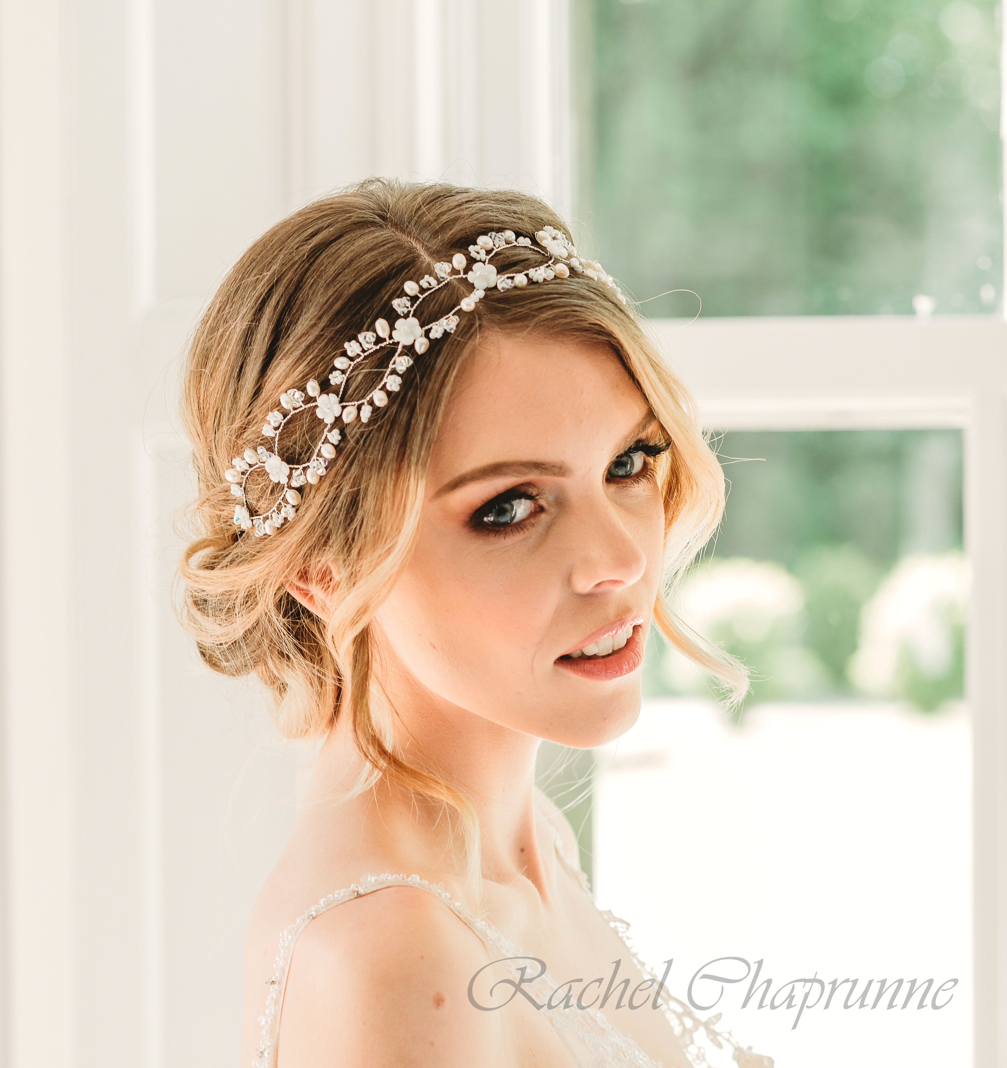 Boho Bridal Hair Vine With Mother Of Pearl Flowers inside Hair Accessories For Mother Of The Bride