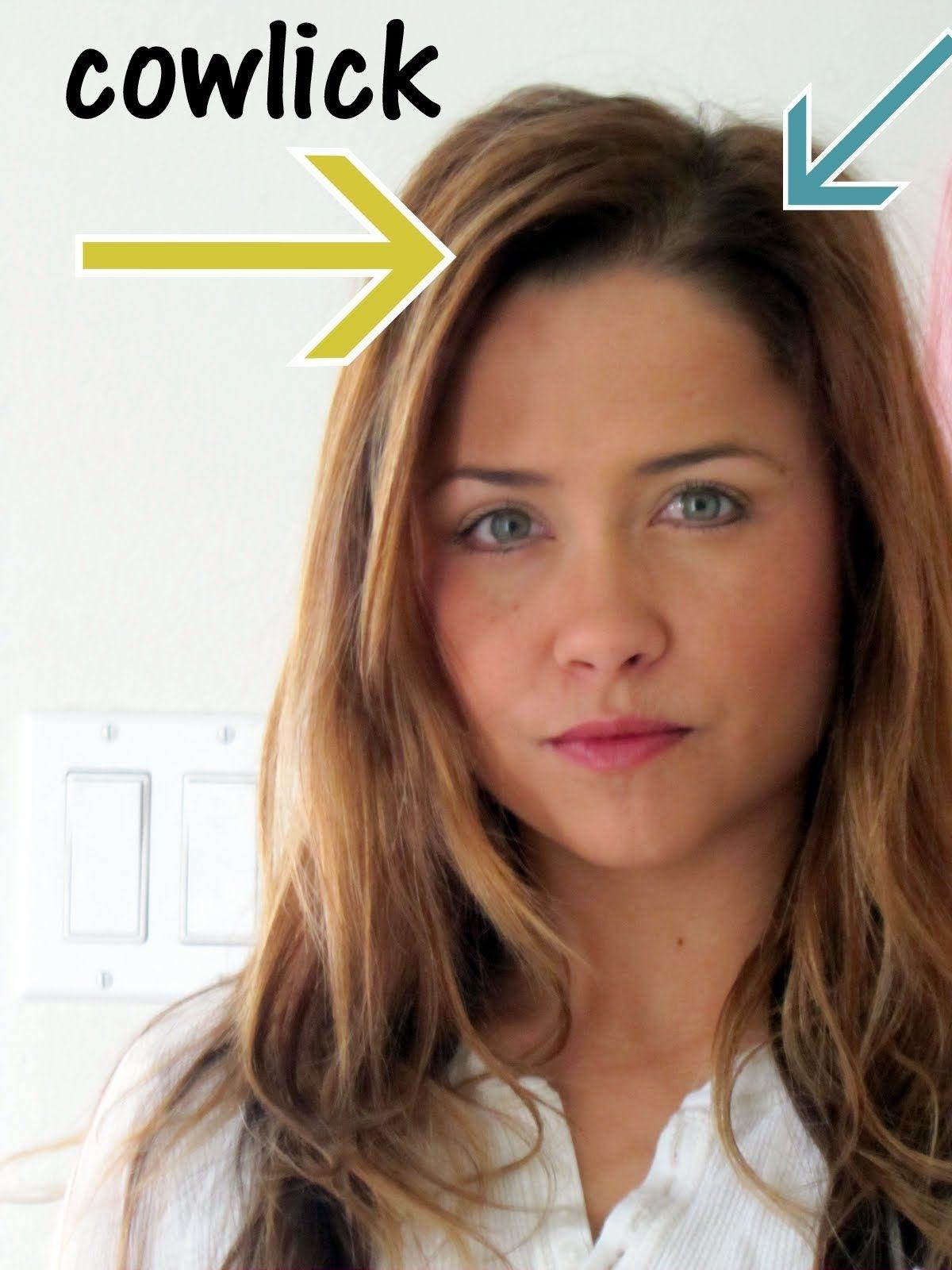 How To Hair Cut Women With Cowlick Wavy Haircut