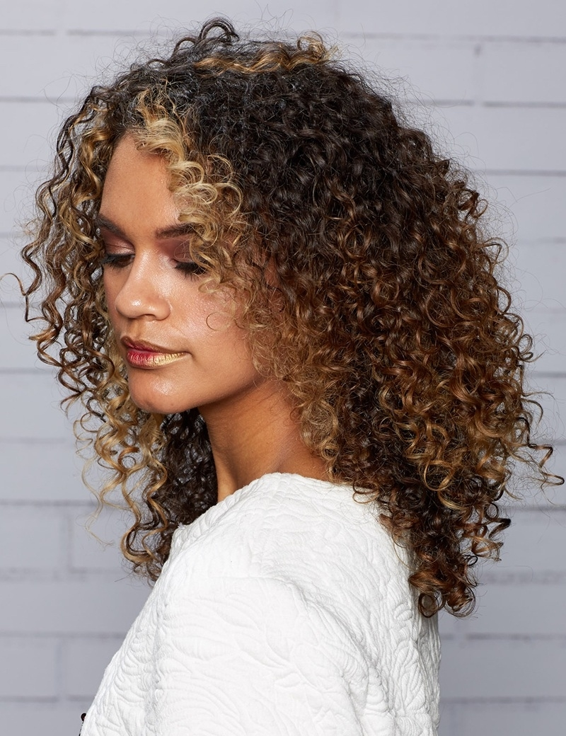Curly Hair Styles For Long And Short Hair | Redken regarding Spiral Hair Cuts For Curly Hair