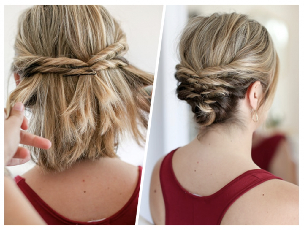Step By Step Updos For Medium Length Hair Including Knots ...