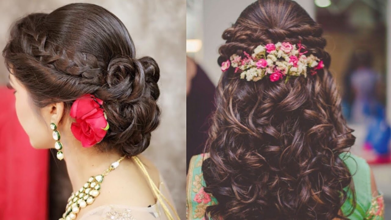 Easy Hairstyles Ideas For Indian Wedding Season/beautiful Hairstyles For Engagement throughout Indian Girl Hairstyle For Engagement