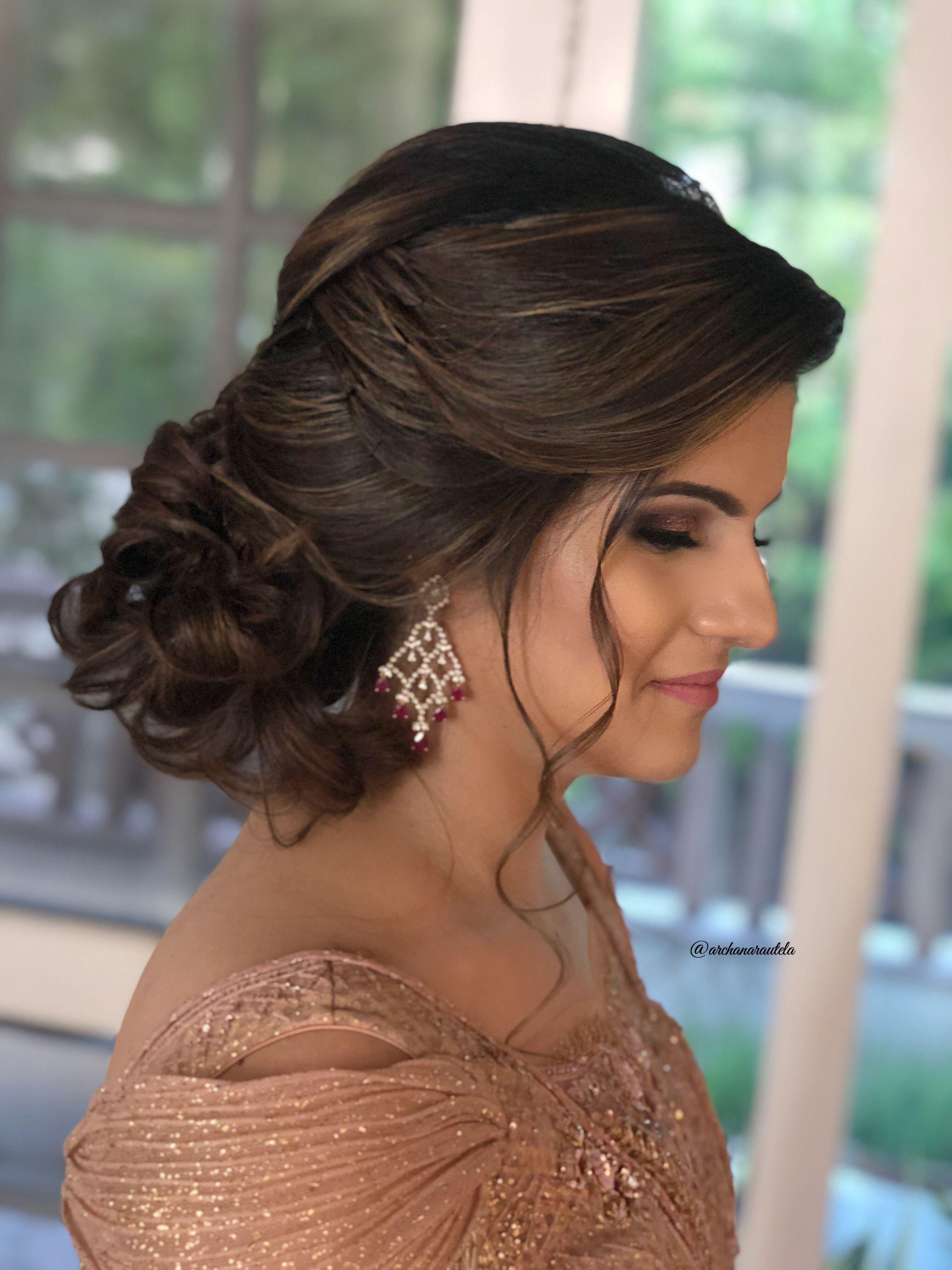 Elegance 🌟⭐💋💋⭐🌟 Hairdo Softly Tied #archanarautelahair pertaining to Indian Party Hairstyles For Medium Length Hair