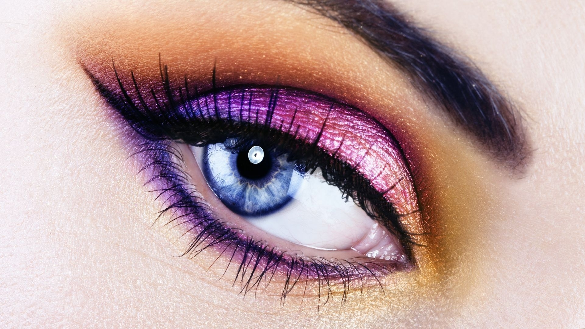 Eyeshadow Makeup | Bright, Spring Makeup For Blue Eyes for Eye Makeup Wallpaper Download