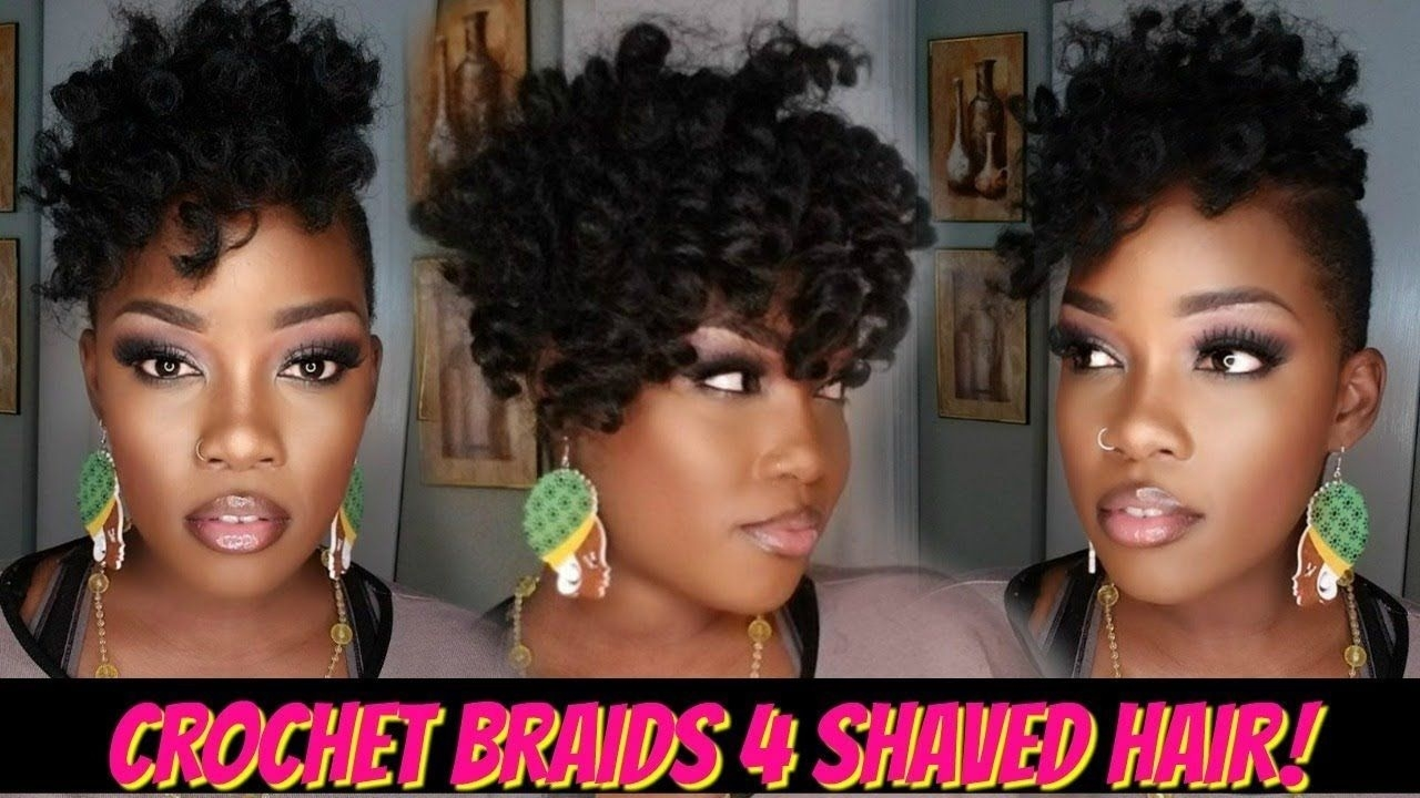 😍1 Pack Crochet Braid Quickie 4 Shaved Hair! | Jamaican inside Kanekalon Crochets For Shaved Hair