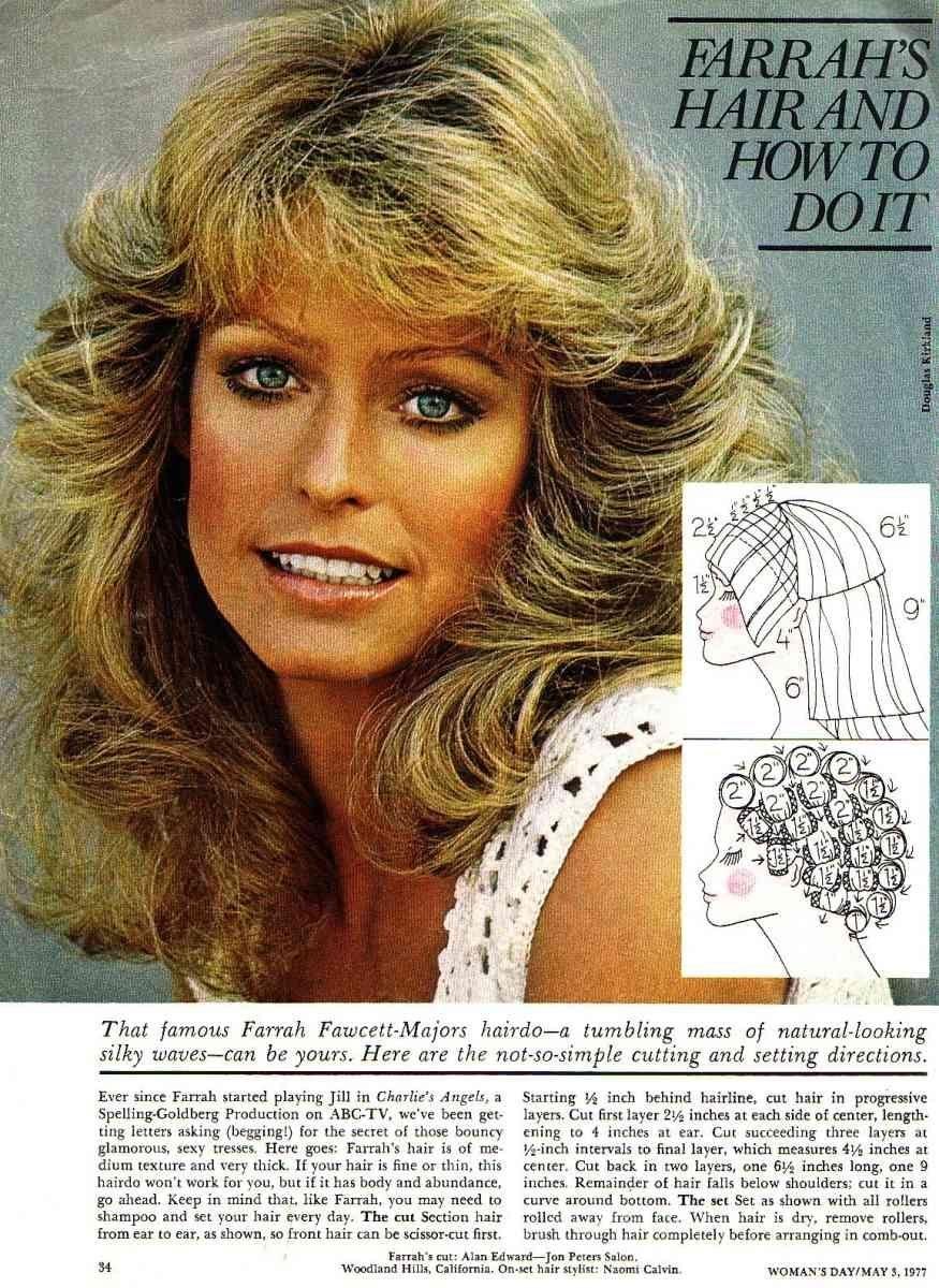 Farrah Fawcett Feathered Hairstyles Wavy Haircut