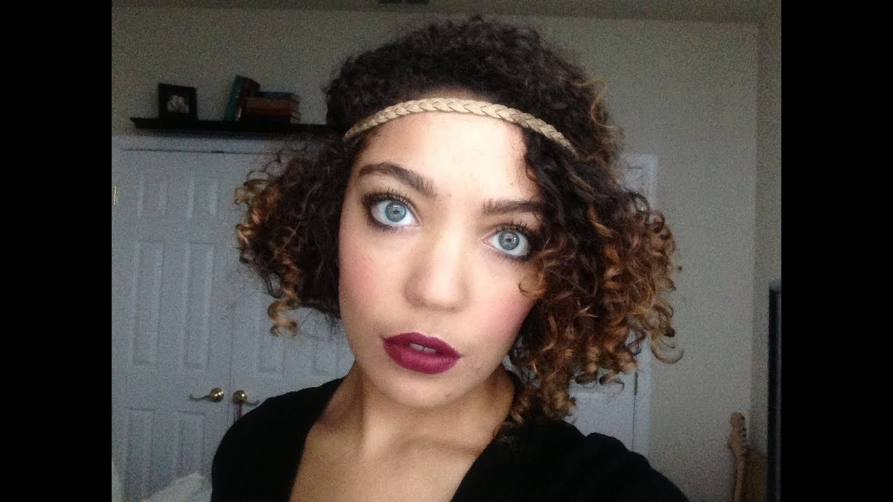 Flapper-Inspired Hairstyle On Naturally Curly Hair. within 1920S Hairstyles For Curly Hair