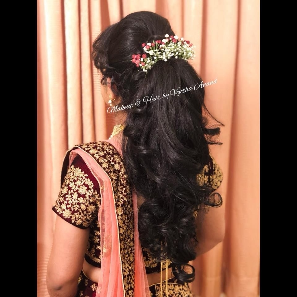 Gorgeous Bridal Updo By Vejetha For Swank. Bridal Hairstyle intended for Indian Bridal Hairstyle For Reception