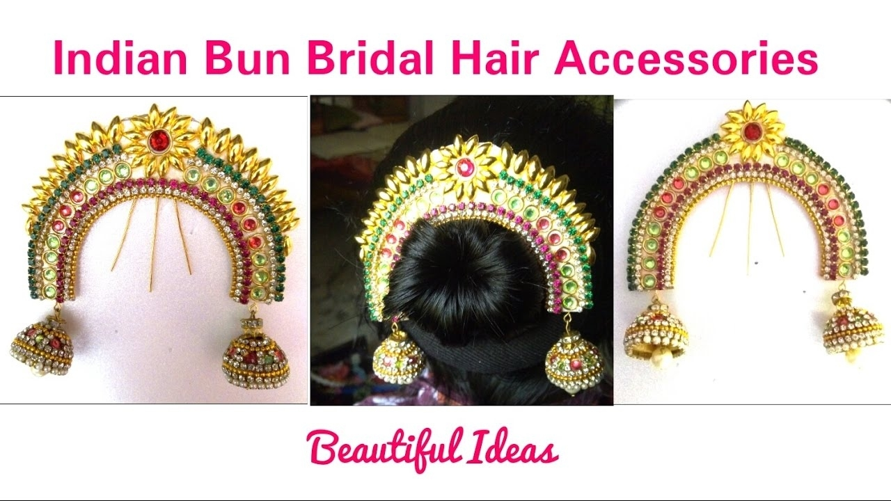 Hair Accessories:how To Make Indian Bun Bridal Hair Accessories At  Hometutorial in Indian Hair Accessories For Buns