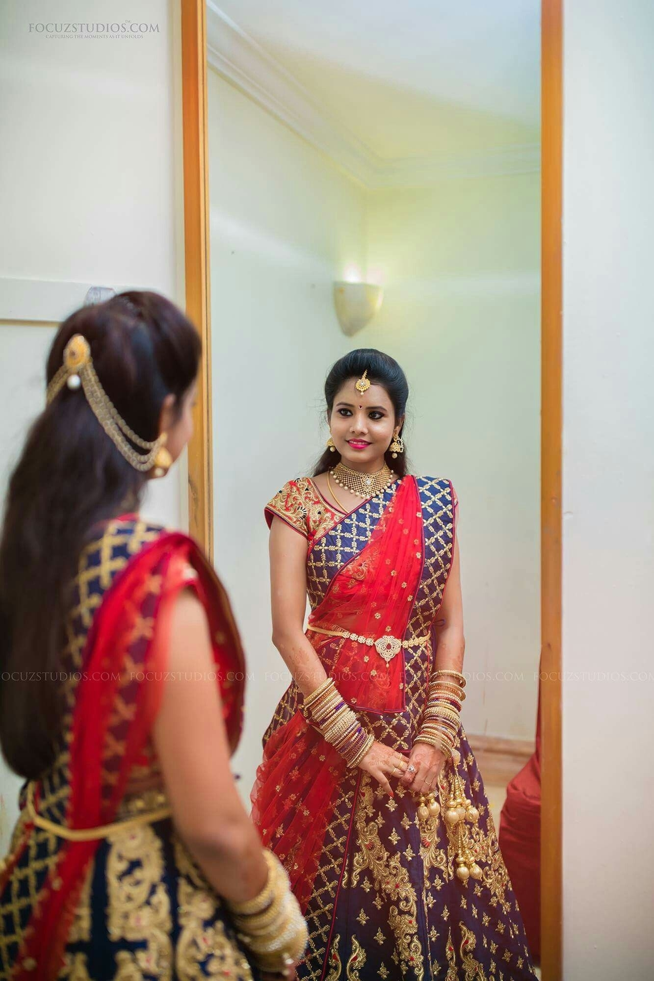 Hair Style   Hairstyles In 2019   Indian Bridal Lehenga intended for South Indian Hairstyle For Wedding Reception