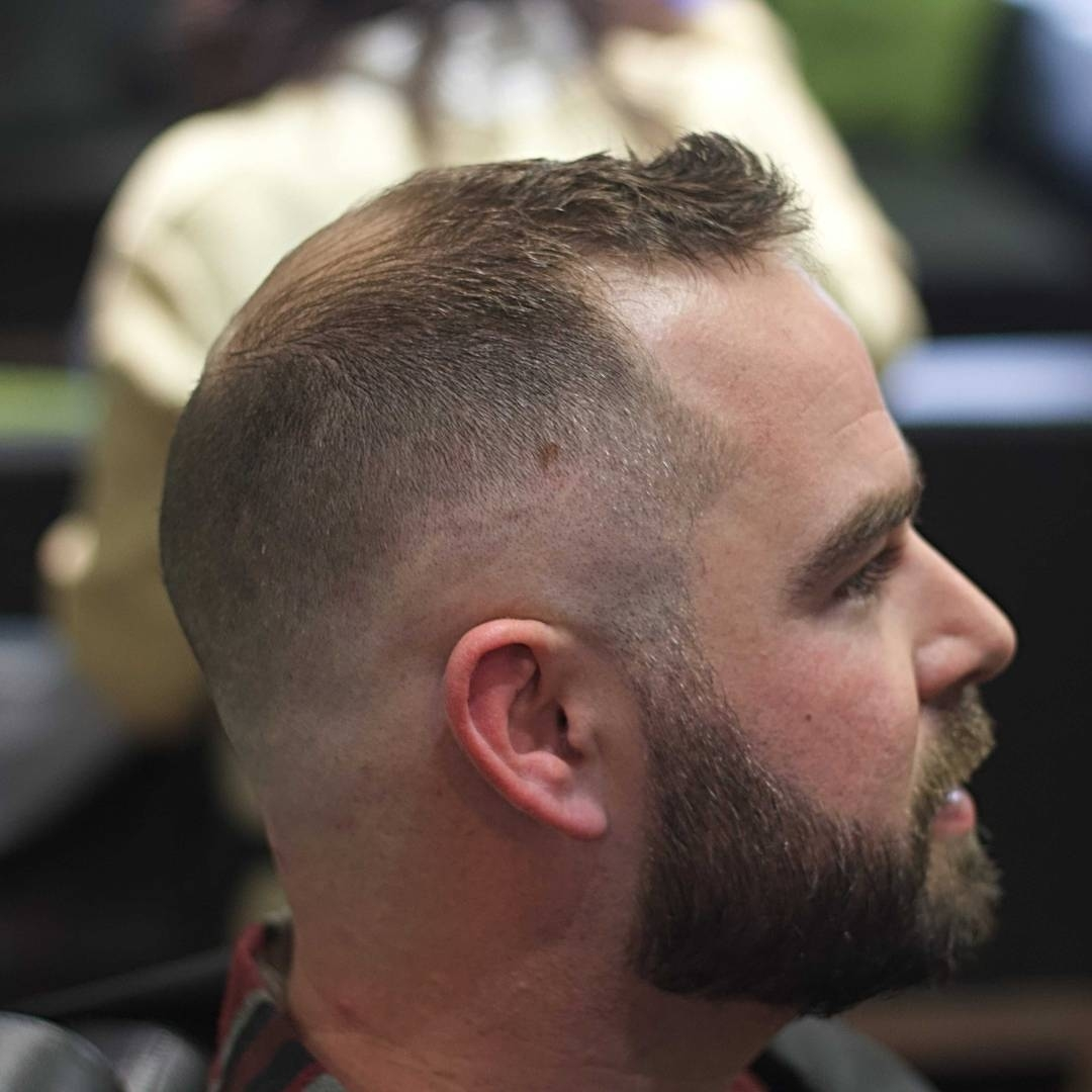 Haircuts For Balding Men in Short Hair Style For Men With Bald Crown