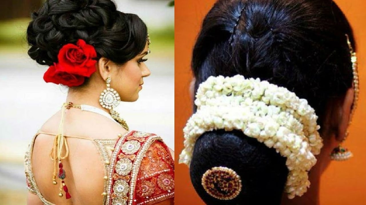 Hairstyle With Flower Indian with Indian Hairstyle With Flowers