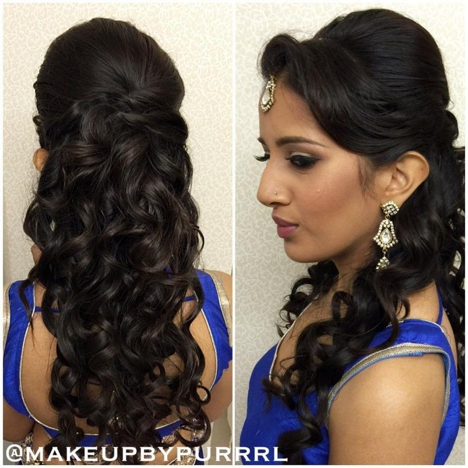 Hairstyles For Curly Hair With Saree | Cake | Hair Styles within Indian Traditional Hairstyles For Short Curly Hair