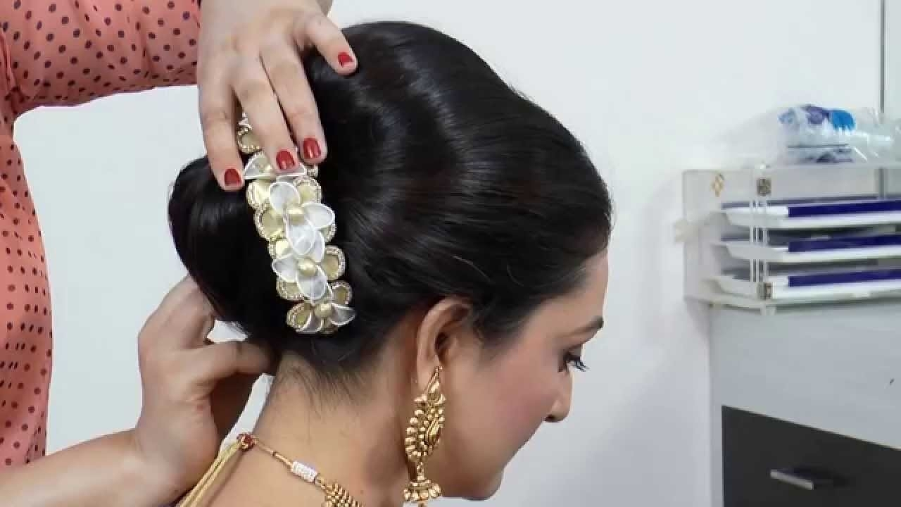 Indian-Asian Bridal Hairstyle Tutorial. with Indian Ambada Hairstyle Step By Step