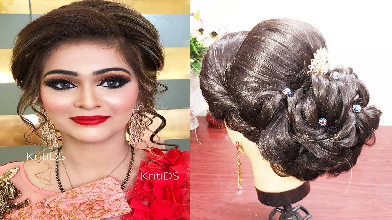 Indian Bridal Hairstyle For Medium And Long Hair🌟 Engagement Hairstyle  /wedding Hairstyle within Indian Bridal Hairstyles For Medium Hair