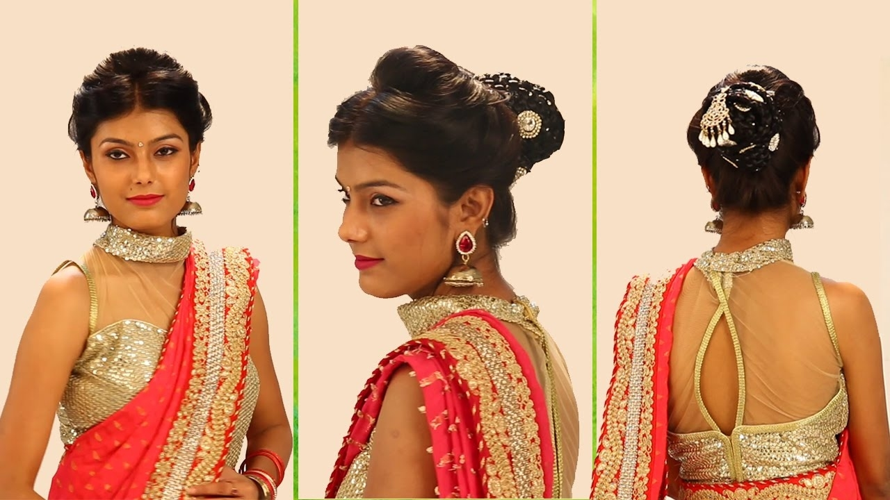 Indian Bridal Hairstyles Step By Step - Simple & Bridal Bun Hairstyles For Wedding And Party with regard to Indian Bridal Hairstyle Easy