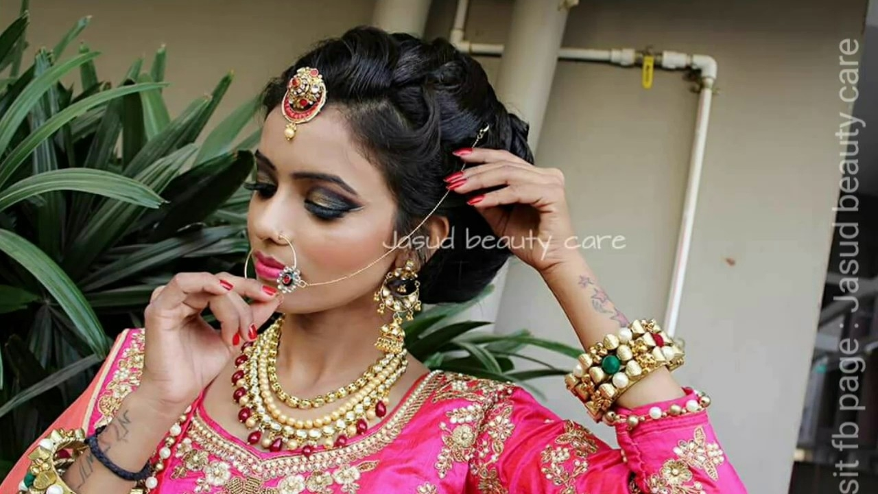 Indian Bridal Makeup And Hairstyle Tutorial. intended for Indian Hairstyle And Makeup
