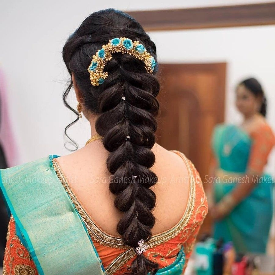 Jaw-Droppingly Pretty Hairstyle Inspo From South Indian intended for Indian Bridal Hairstyles For Long Hair With Flowers