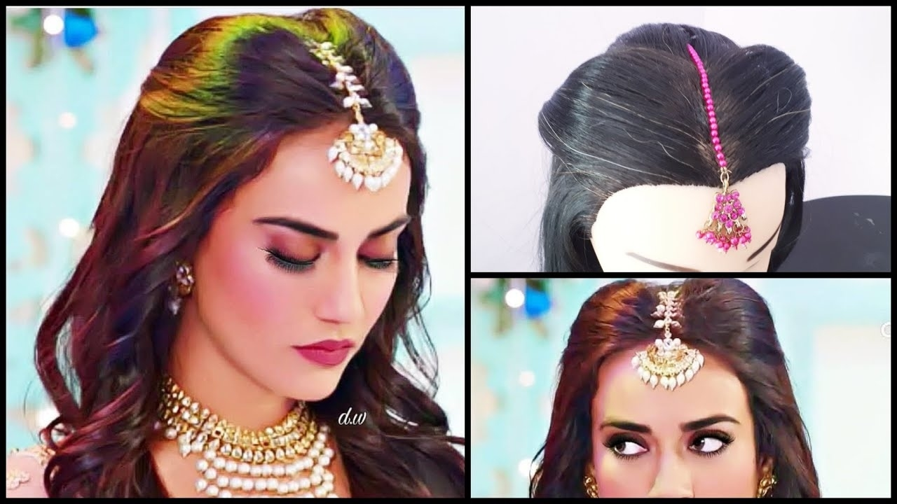 Maang Tikka Setting For Every Hairstyle || Surbhi Jyoti Hairstyle In Nagin3  || Mang Tikka Hairstyles with Indian Hairstyle With Maang Tikka
