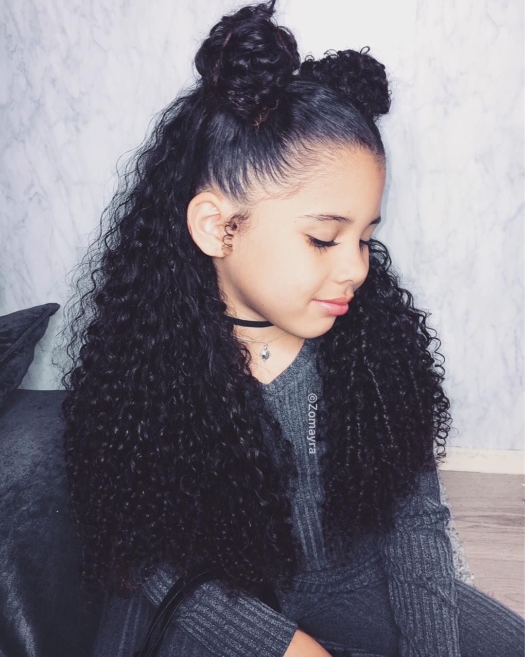 Pin By Omanee Gipson On Future In 2019 | Mixed Curly Hair intended for Curly Hairstyles For Mixed Children Girls
