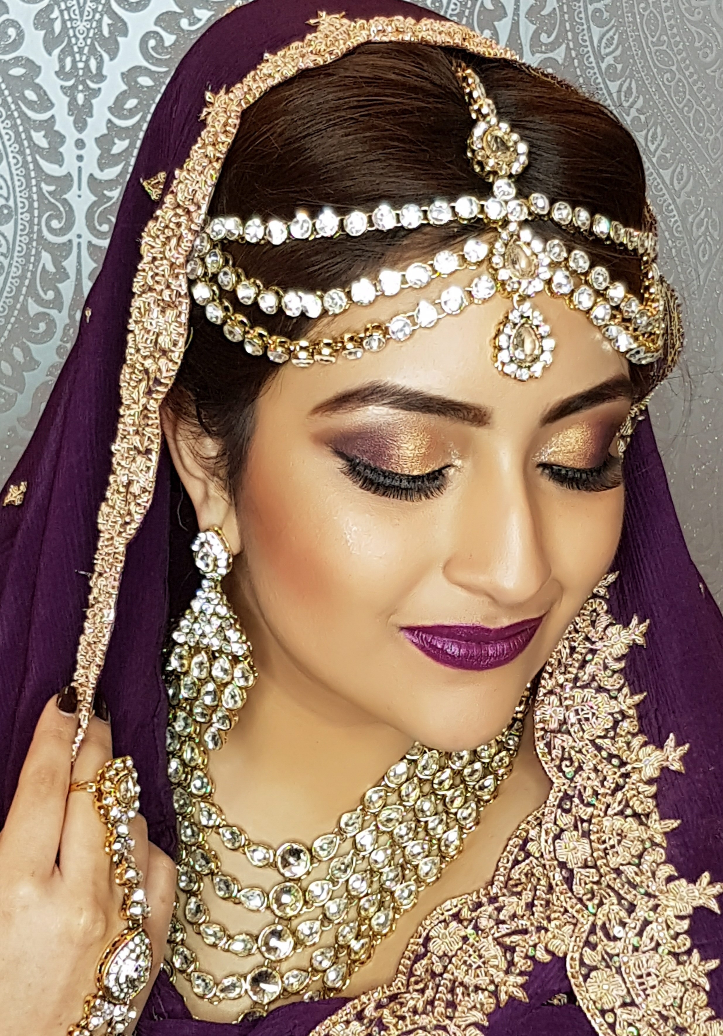 Preeti Bains with Indian Hair And Makeup Artist Nottingham