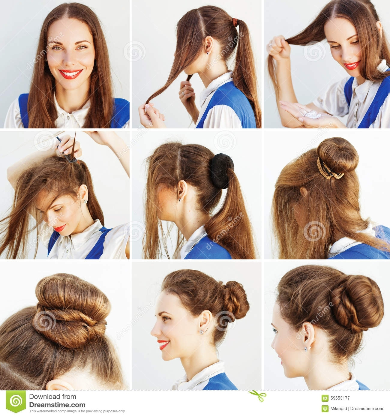 Step By Step Hairstyle Idea For Blog Stock Image - Image Of with regard to Indian Hairstyle For Download