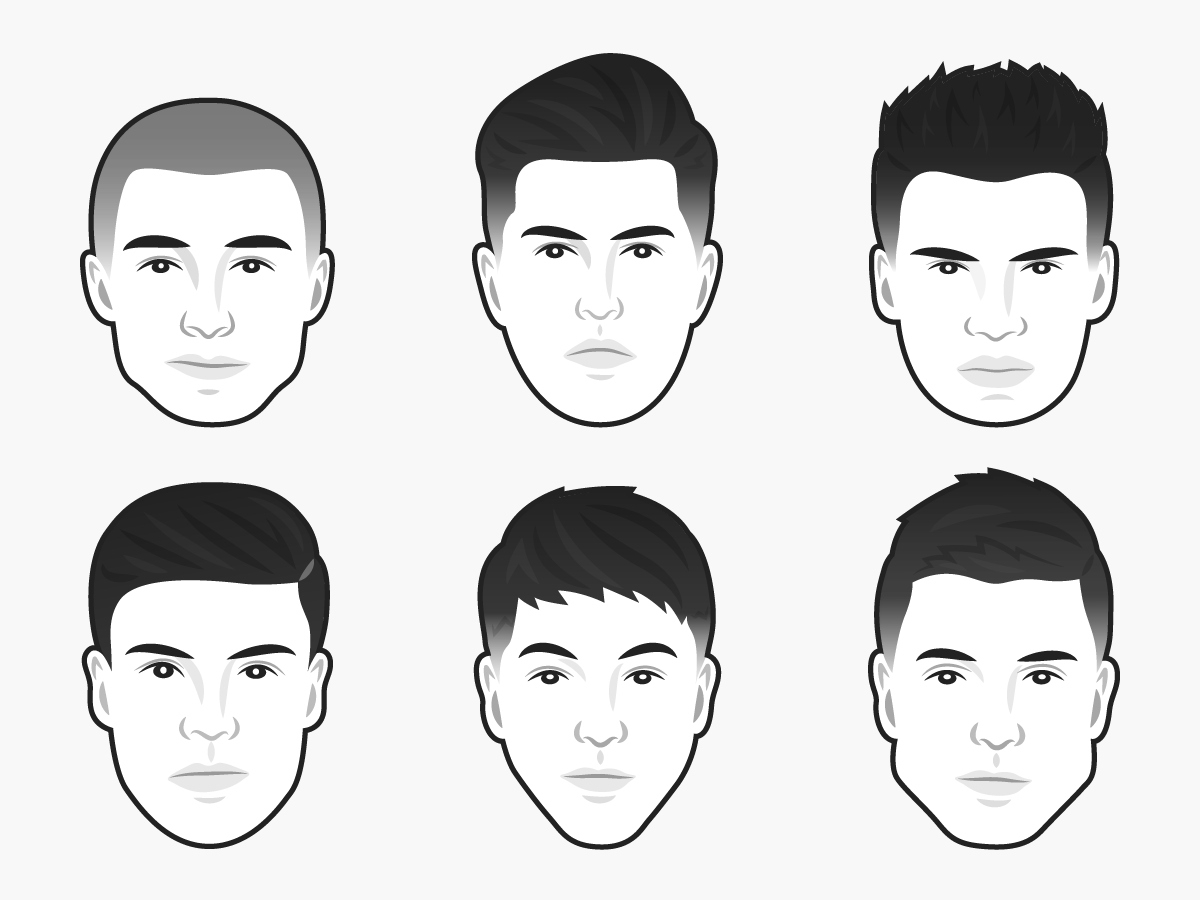 The Best Men's Haircut For Every Face Shape | Business Insider with Best Hairstyles For Egg Shaped Head