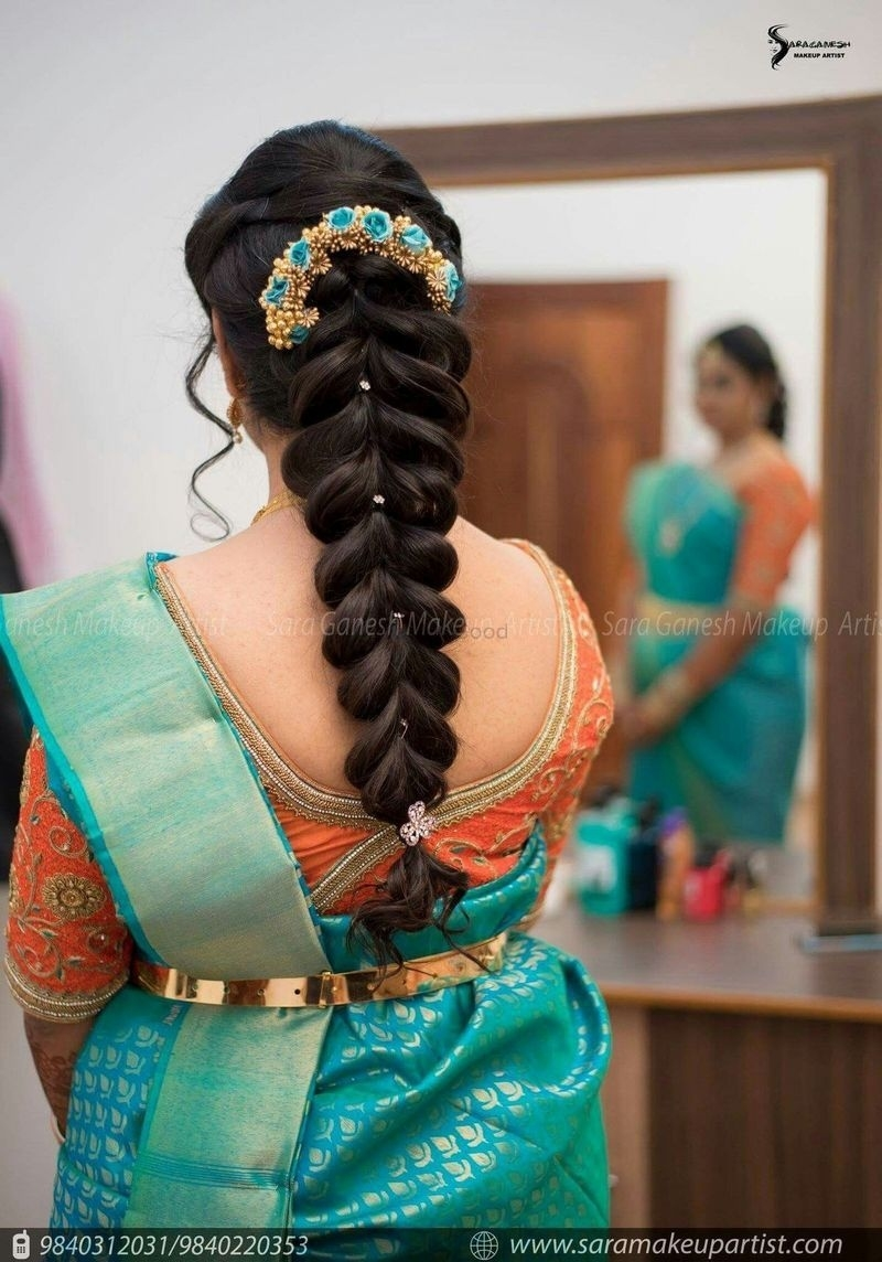 Unique Fishtail Braid For South Indian Bride For The Wedding for Hairstyle For Wedding Day South Indian