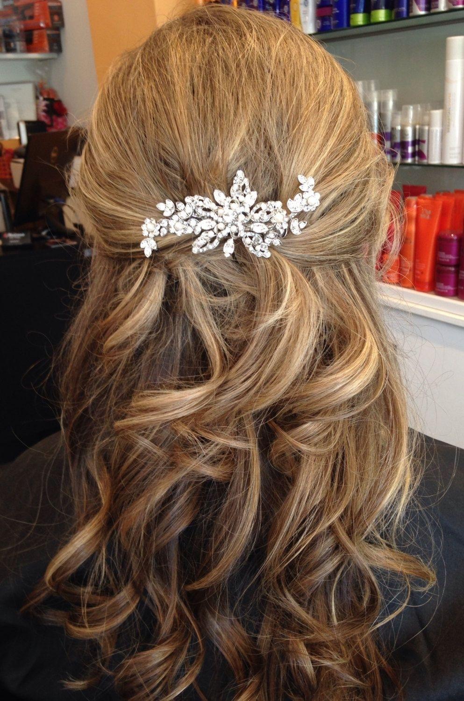 Vintage Inspired Bridal Hair Accessories Rhinestone Wedding regarding Hair Accessories For Half Up Hair