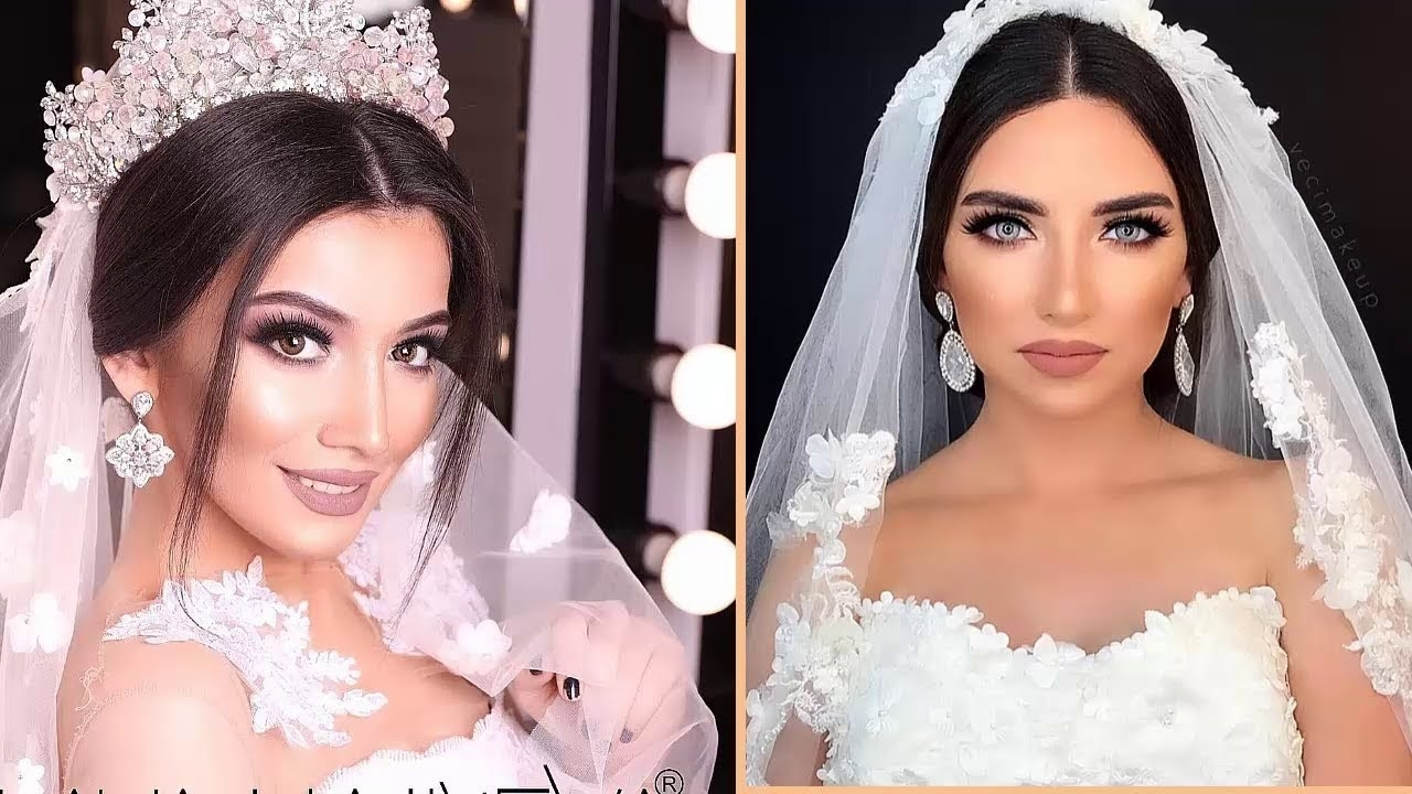Wedding Hairstyles Tutorials Compilation || Wedding Hairstyles With Veil  And Tiara intended for Wedding For Long Hair With Crown And Veil