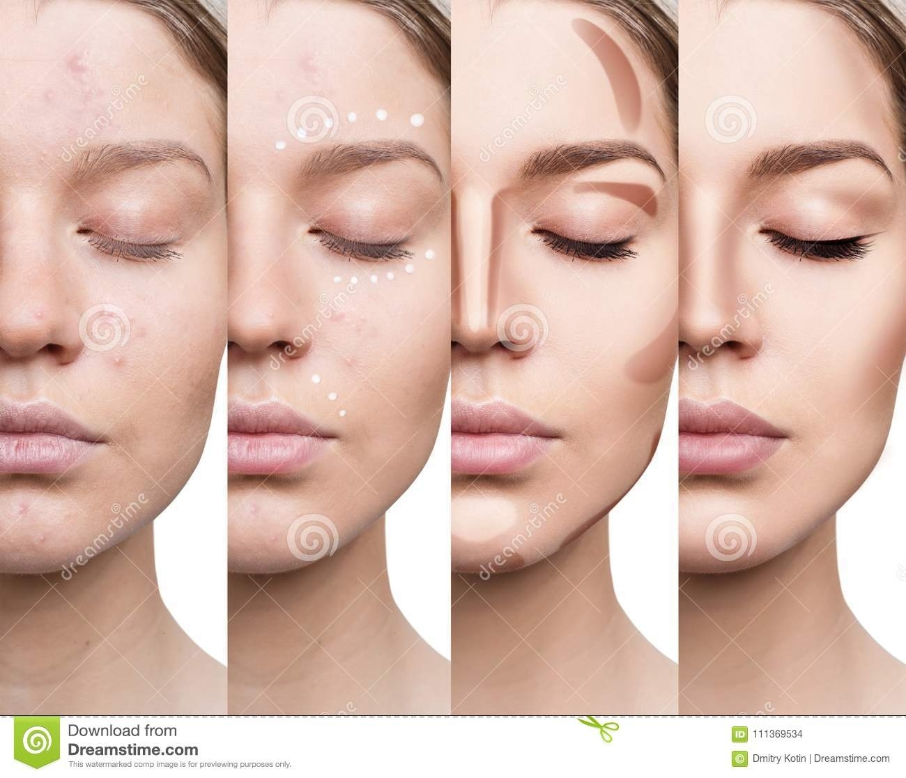 Woman Applying Makeup Step By Step. Stock Photo - Image Of within Applying Makeup Step By Step Pictures