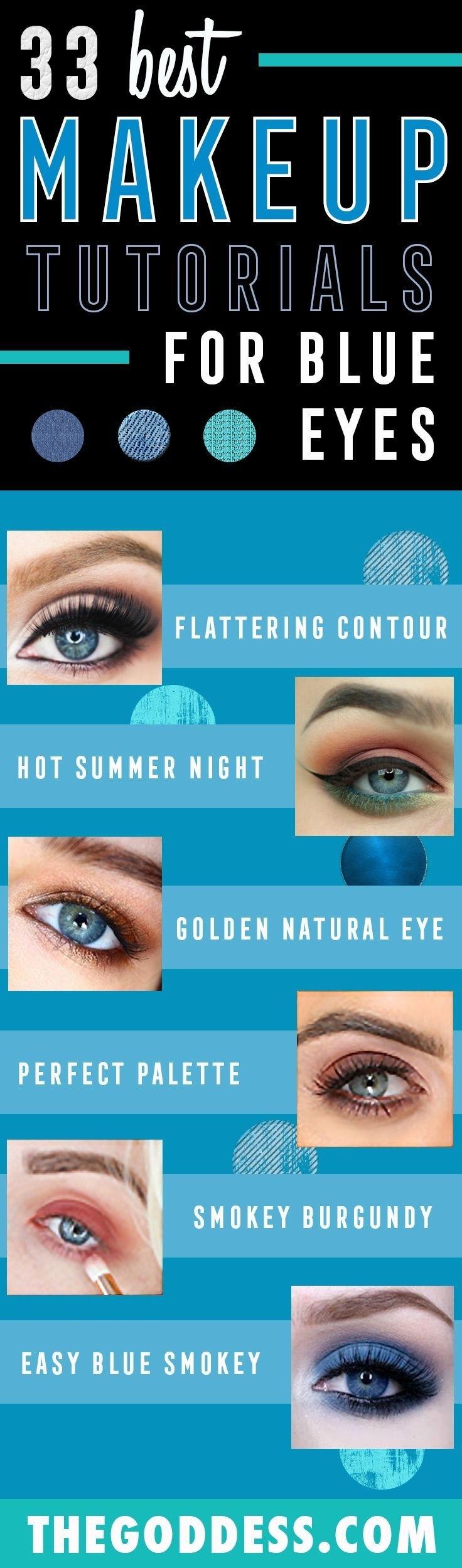 33 Best Makeup Tutorials For Blue Eyes | Fair Skin Makeup regarding Eye Makeup Colors For Blue Eyes And Pale Skin