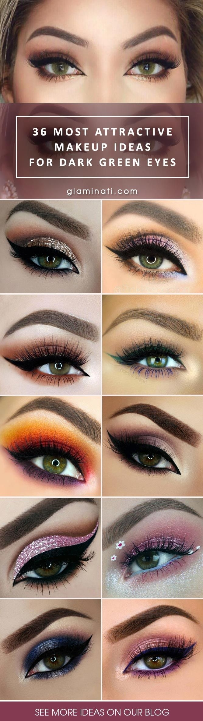 42 Most Attractive Makeup Ideas For Dark Green Eyes | Makeup within Makeup Ideas For Hazel Eyes And Dark Brown Hair