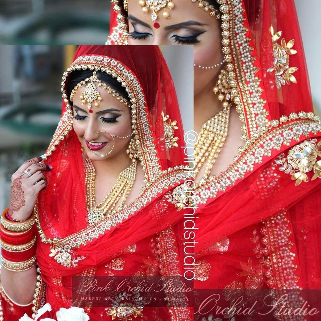 A Punjabi Bride (With Images) | Indian Wedding Bride, Indian for Punjabi Bridal Makeup Pics