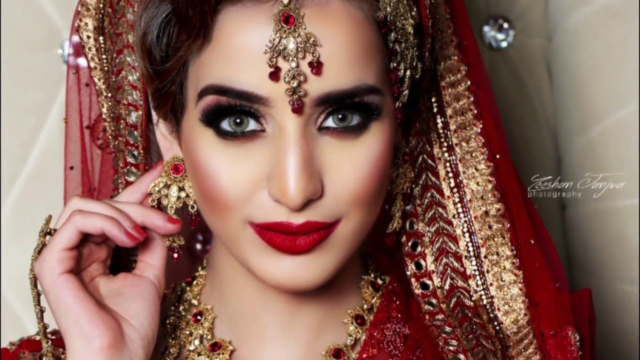 Beautiful Pakistani And Indian Traditional Bridal Makeup within Asian Bridal Makeup Gallery