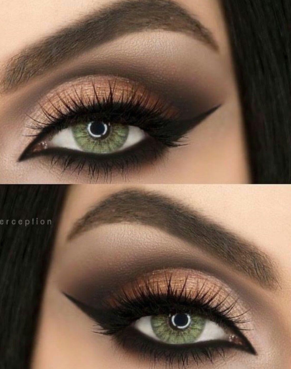 Best Colour For Green Eyes | Almond Eye Makeup, Green Makeup inside What Color Eye Makeup For Green Eyes