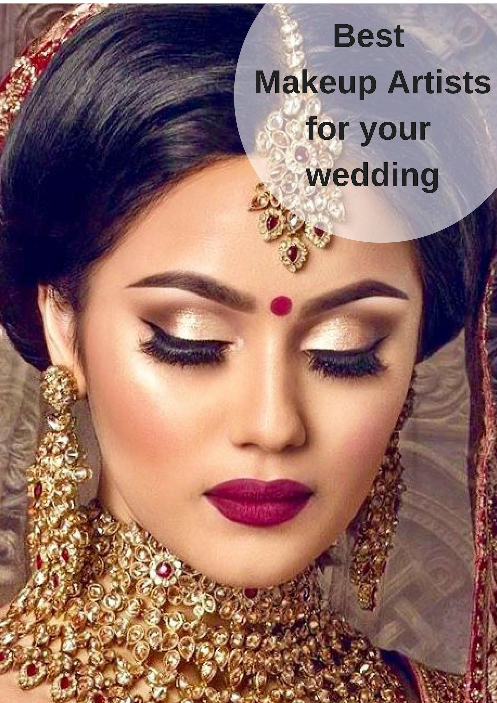 Choice Of Best Makeup Artist For Weddings | Bridal Makeup for Best Indian Bridal Makeup Pictures