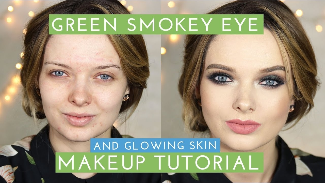 Glowing Skin & Green Smokey Eyes Makeup Tutorial// Mypaleskin with Makeup Tutorial For Green Eyes And Pale Skin