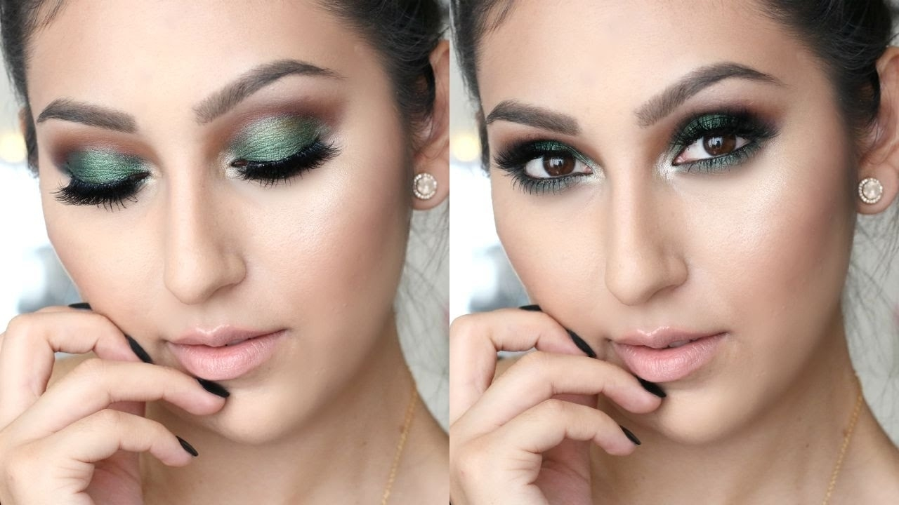 Green Fall Makeup For Brown Eyes | One Brand Tutorial in Makeup For Brown Green Eyes