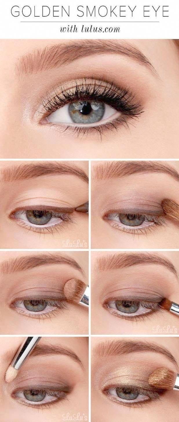 Makeup Tutorials For Blue Eyes -Lulus How-To: Golden Smokey throughout Prom Makeup Blue Eyes Fair Skin
