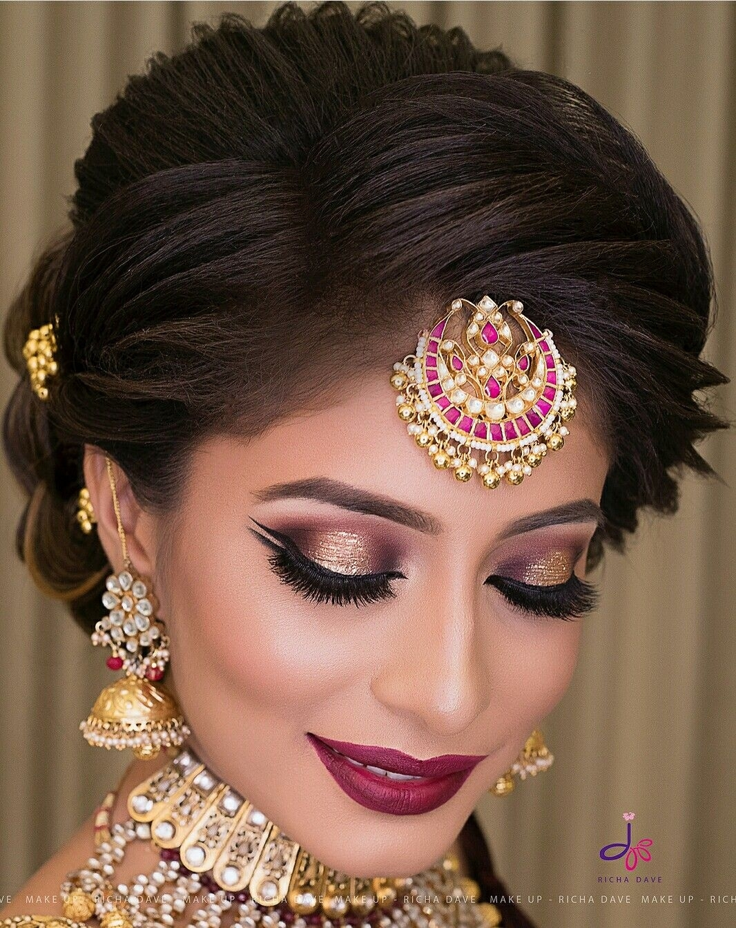 Pin By Pinki Loi On Punjabi Suits | Bridal Eye Makeup in Indian Wedding Eye Makeup Look