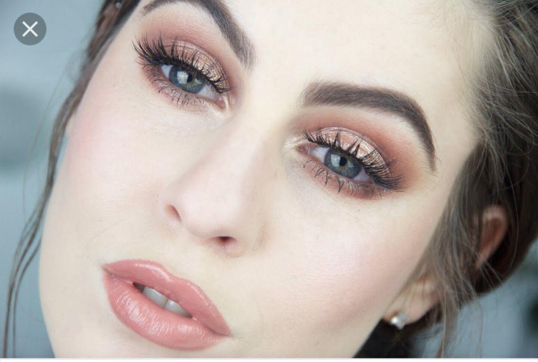 Rose Gold, Soft Neutral, Pale Skin, Dark Hair, Blue Eyes throughout Makeup For Blue Eyes Brown Hair Pale Skin