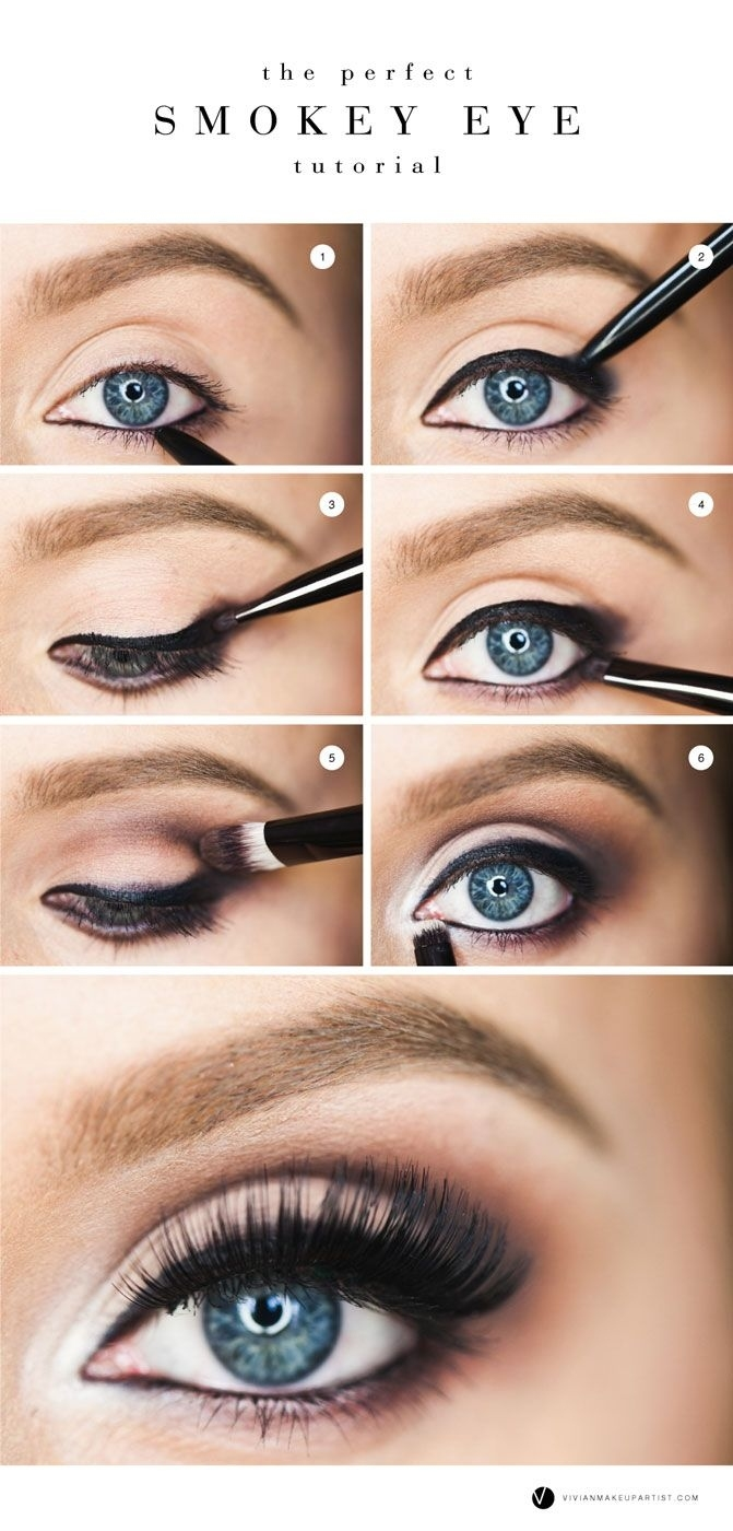 The Perfect Smokey Eye | Blue Eye Makeup, Eye Makeup, Smokey throughout Best Makeup Tips For Blue Eyes