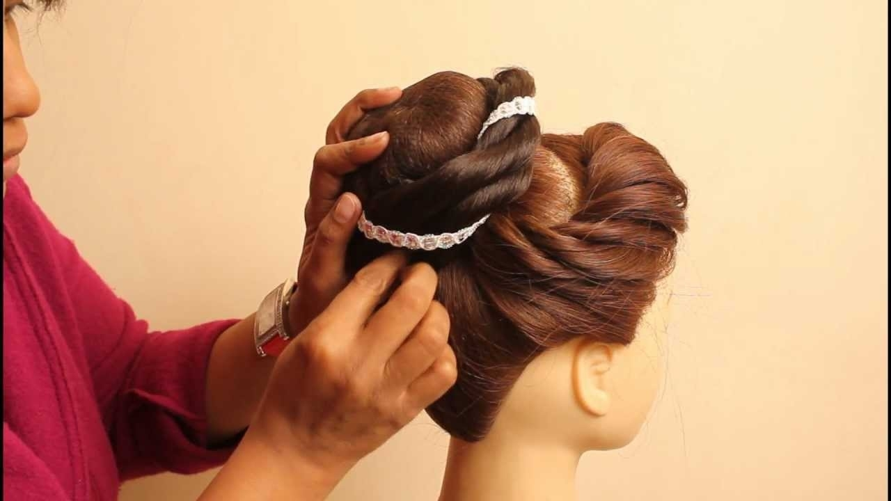 Indian Bridal Hairstyles By Estherkinder with regard to Indian Hairstyle Video Download